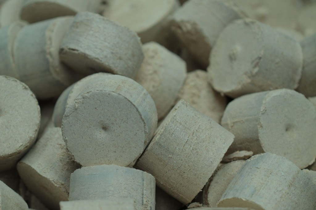 samengeperst houtstof (briket)